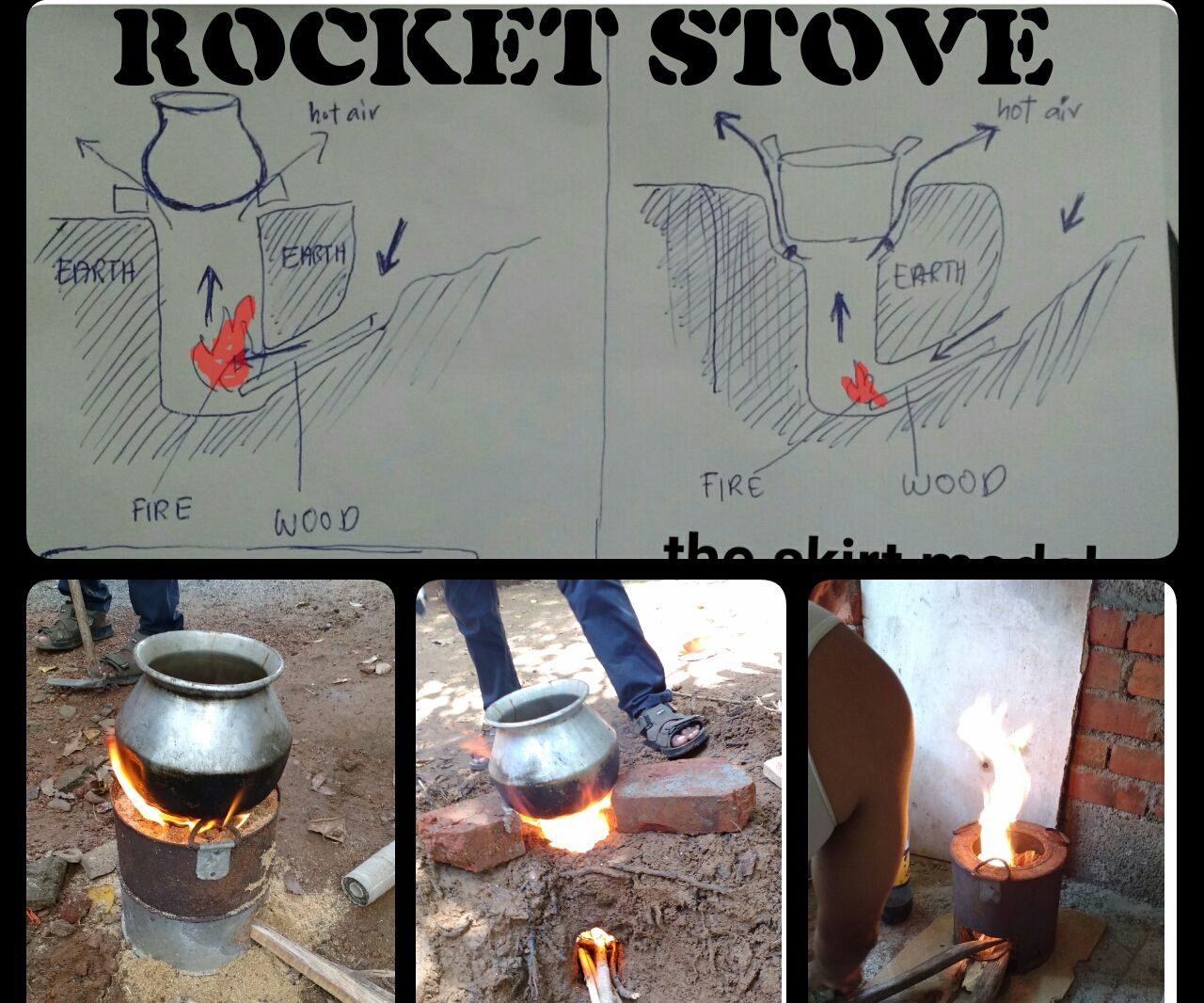 RoCkeT StOvE(one in the ground & a usual one)