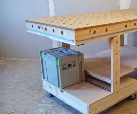 Folding Workbench and Bench Top Power Tool Organizer