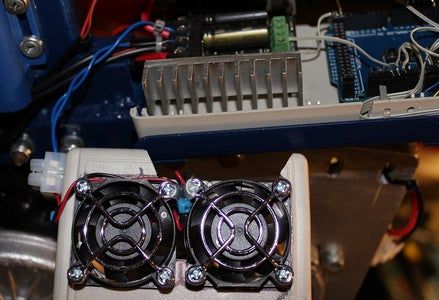 Cooling Fans and LED Battery Voltage Indicator.