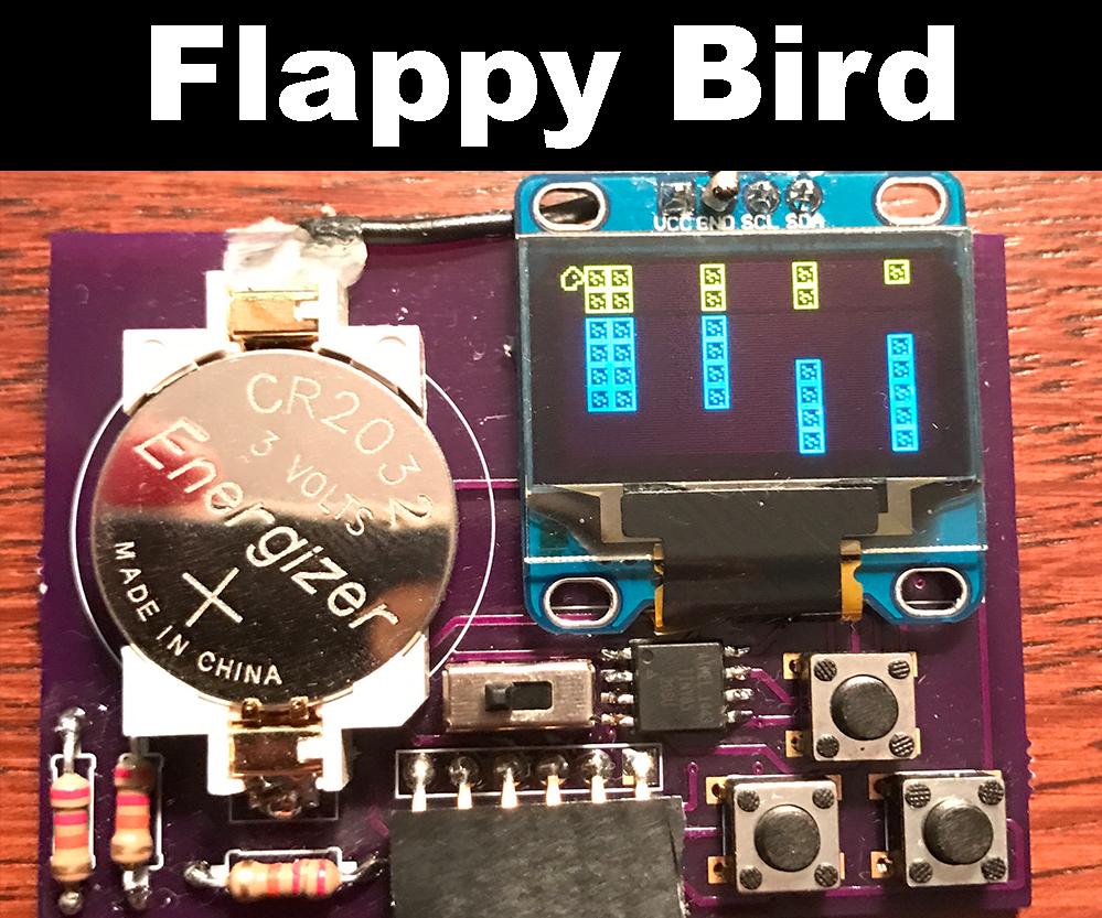 Flappy Bird on ATtiny85 and OLED Display SSD1306