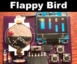 Flappy Bird on ATtiny85 and OLED Display SSD1306