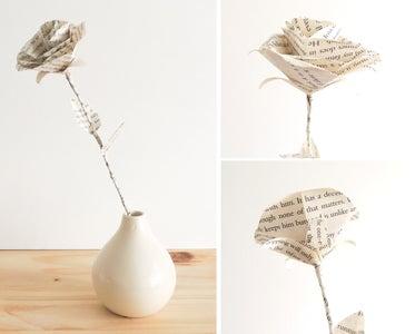 DIY Book Page Rose