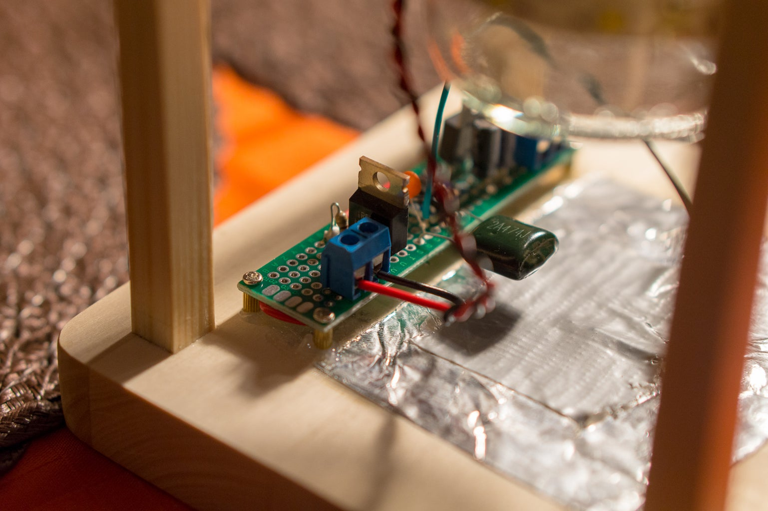 Install All Electronics in the Lantern