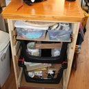 Bin Cabinet/cart Made With Reclaimed Materials
