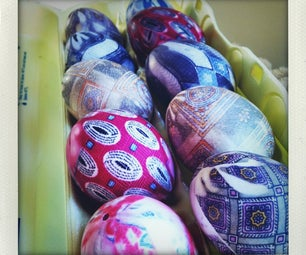 Silk Dyed Eggs