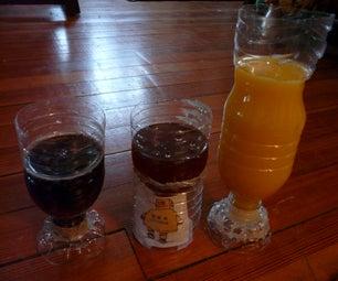 Easy Funky Drinking Glasses From PET Bottles
