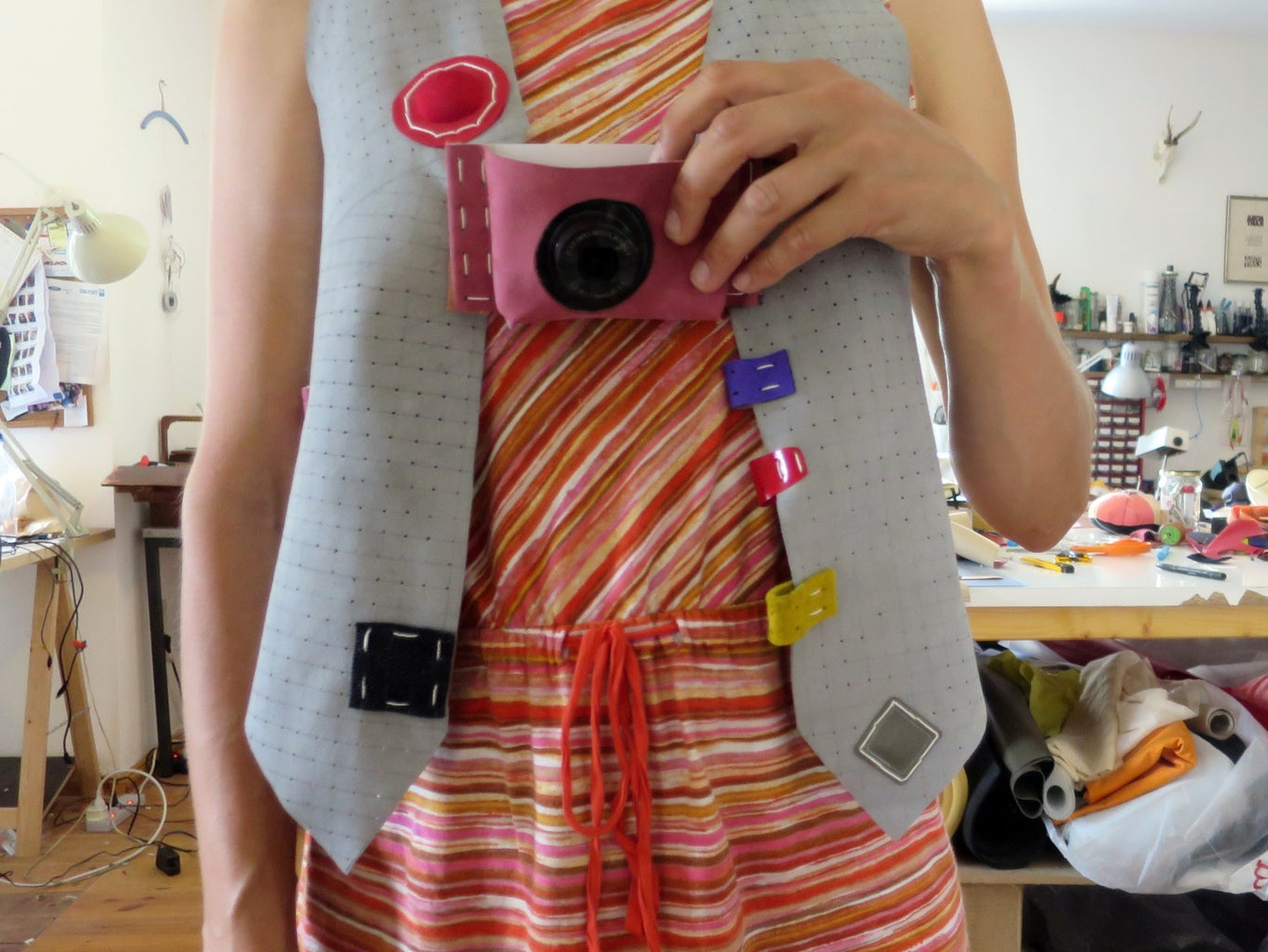 Example: Pegboard Fabric Camera Mount