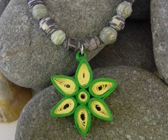 Handmade Paper Necklace
