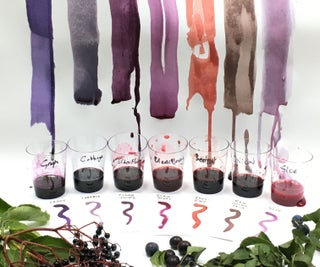 家Made Ink From Nature: Perfect Purples