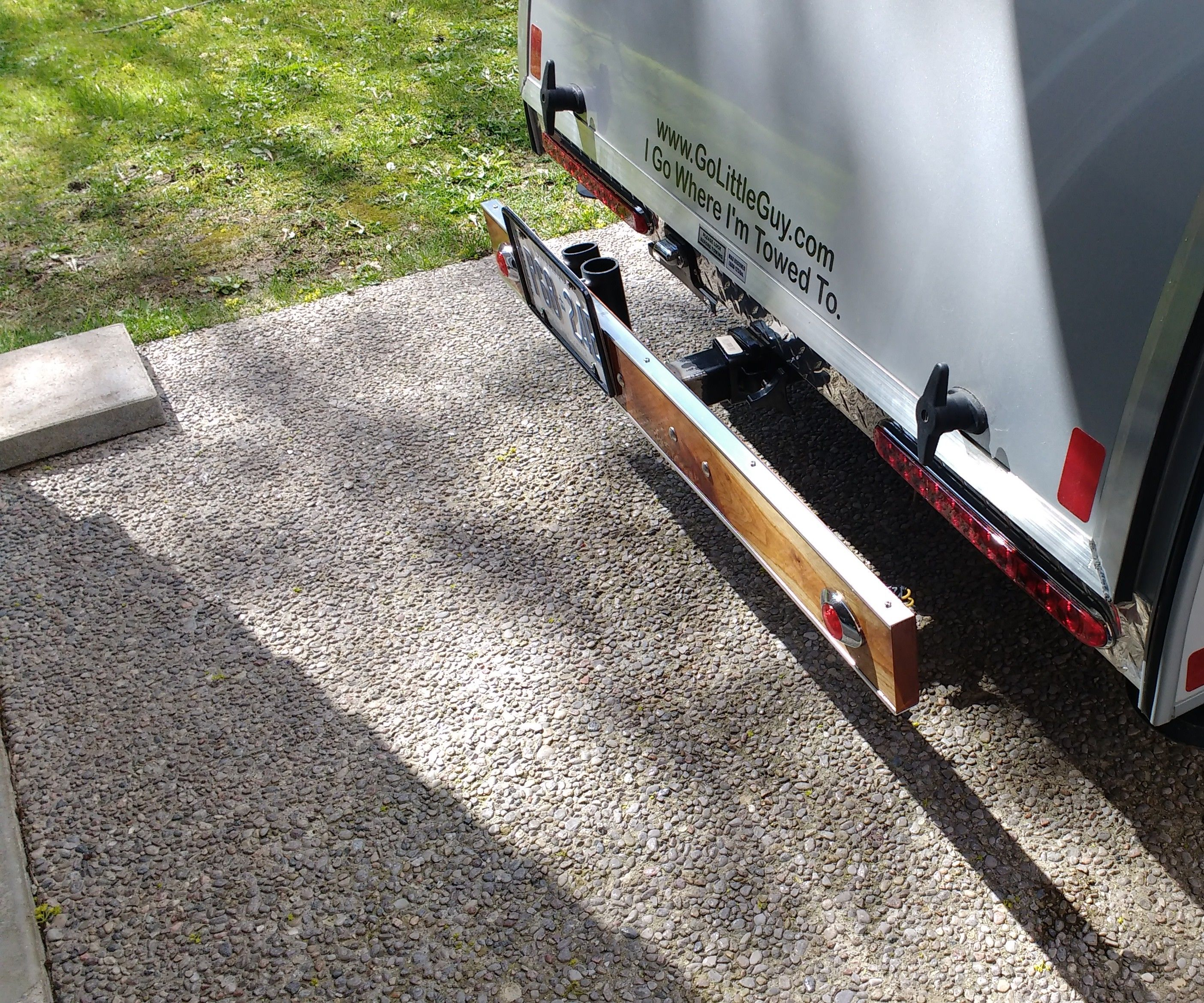Hitch Mounted Removable Wooden Bumper