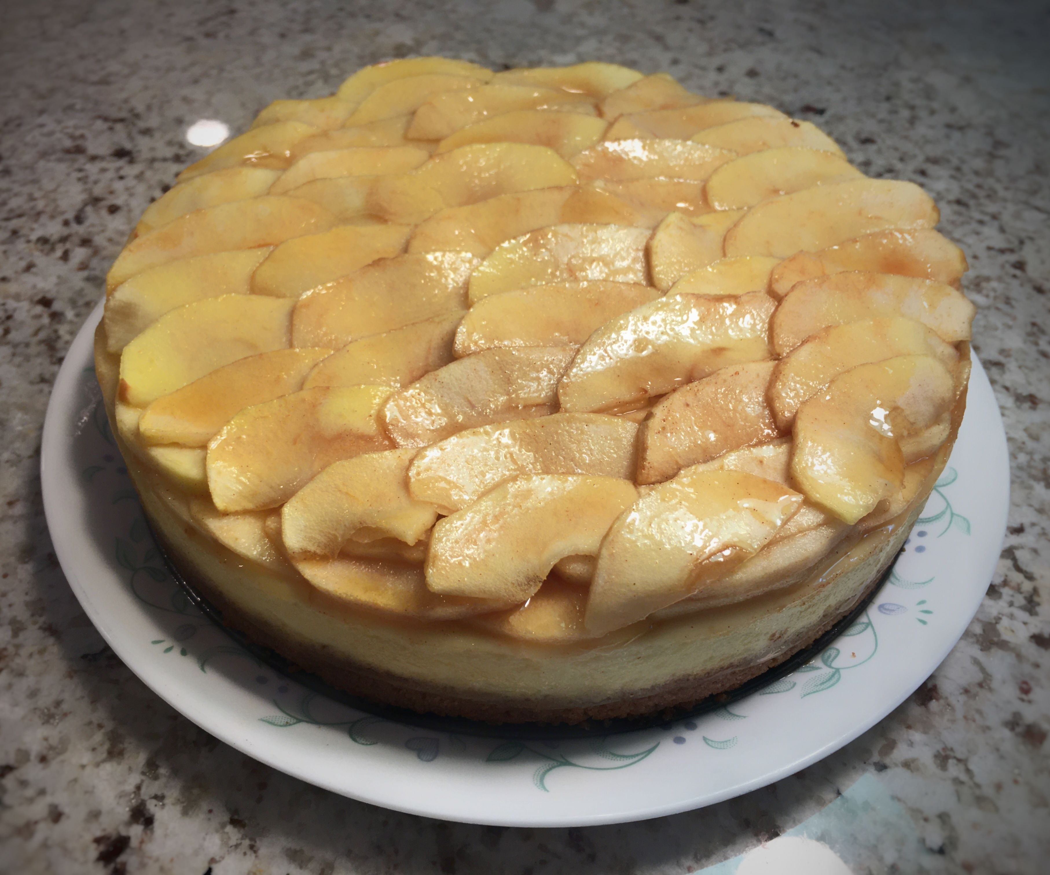 Scaled Apple Cheesecake