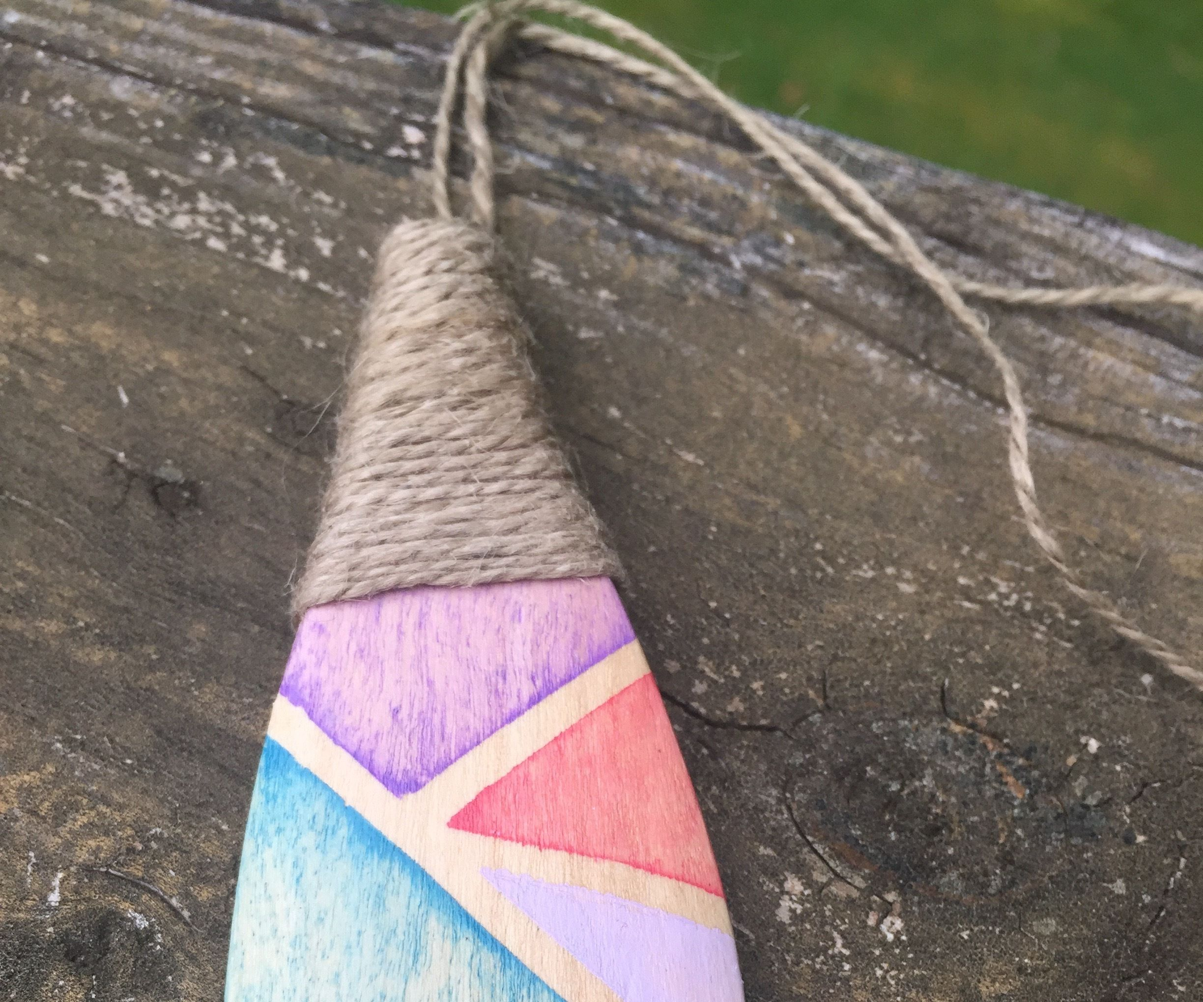 Make a Reversible Pendant Necklace From a Wooden Spoon