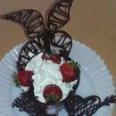 Taza de chocolate con formas 3D