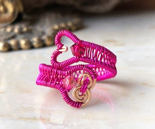 Wire Weaving Basics - Heart Ring
