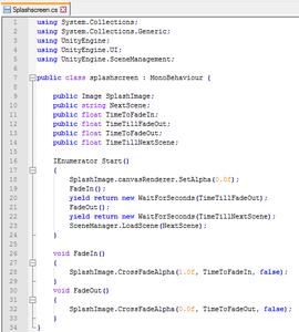 Editing the Splashscreen Script