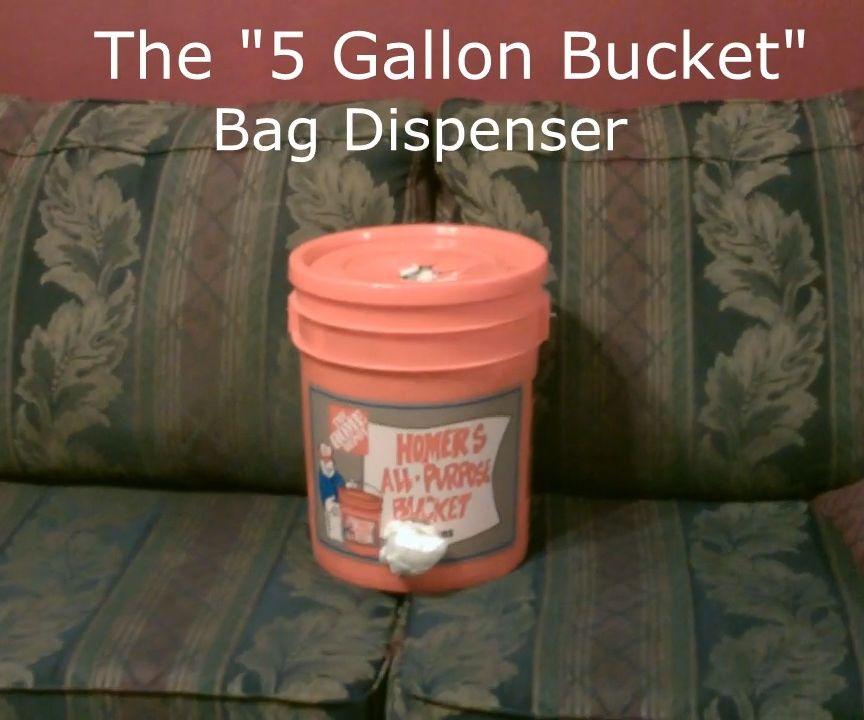 The (5 Gallon Bucket) Bag Dispenser/Recycler DIY ~store/reuse/recycle
