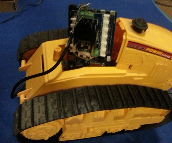 Driving a New Bright Toy Bulldozer With an Intel Edison