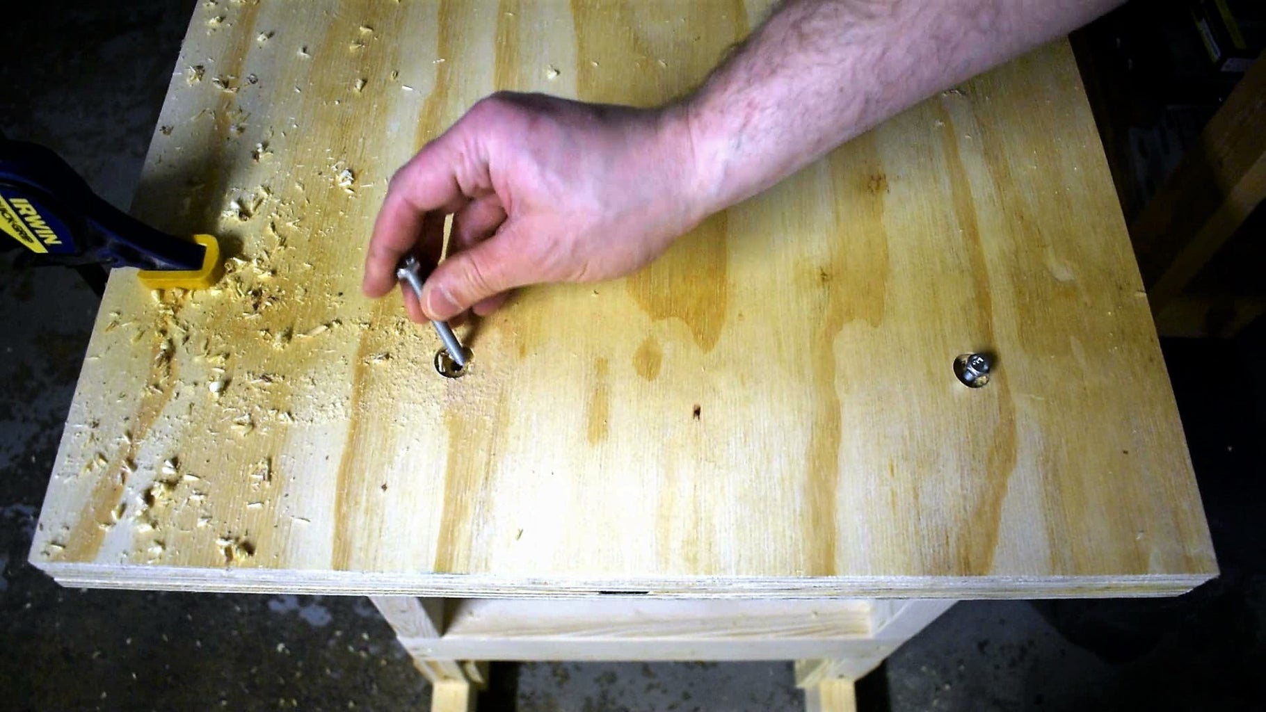 Drill and Attach the Table Top