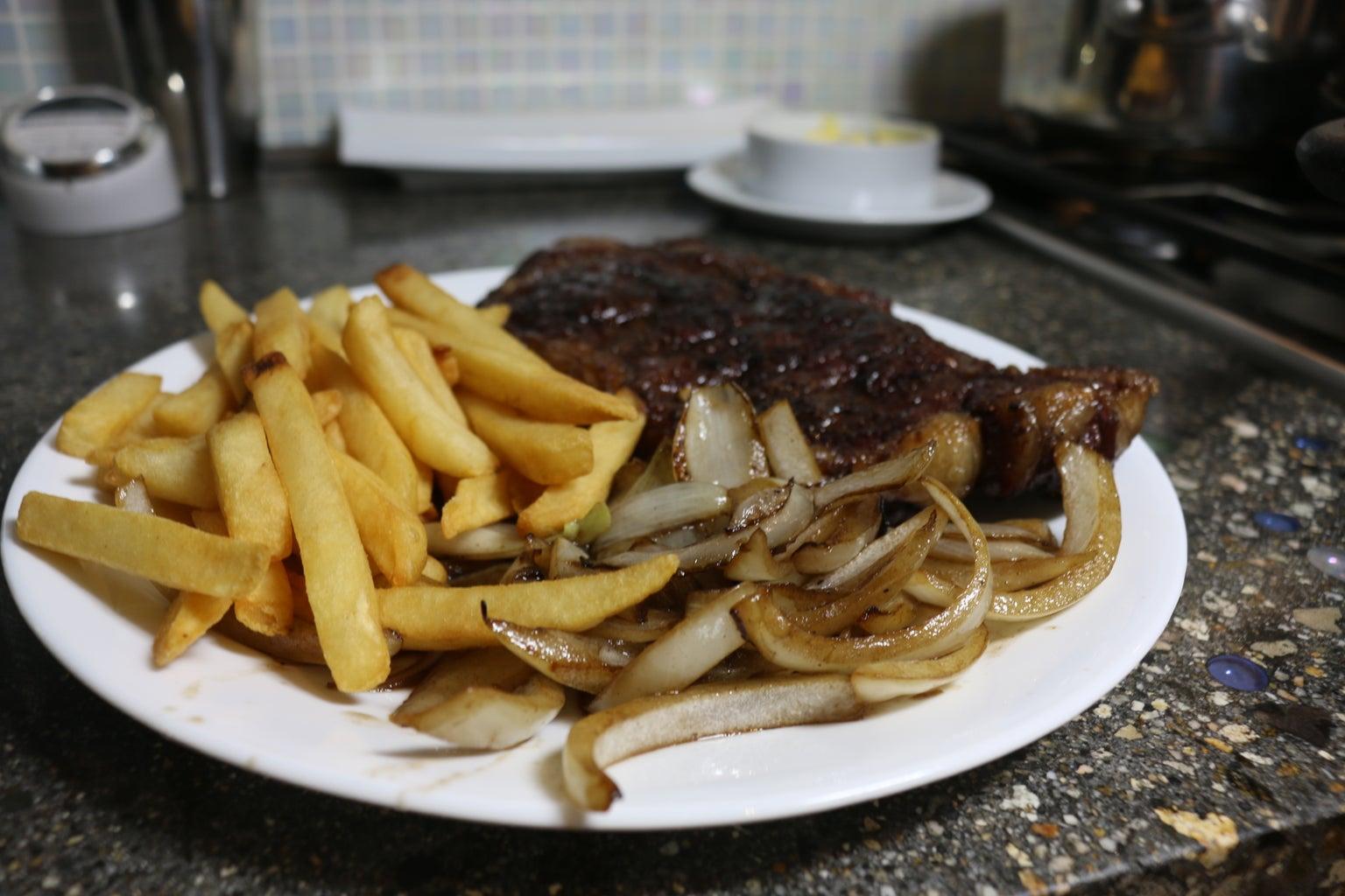 Searing the Steak