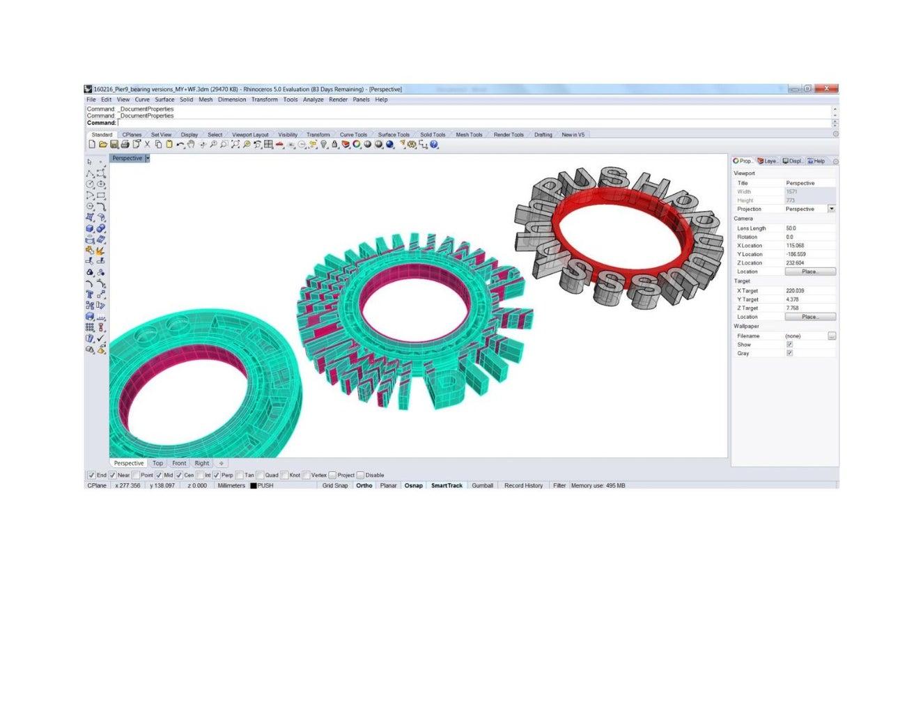 Iteration #2 - Generating 3D Printable Files From Adobe Illustrator / Rhino3D / AutoDesk Fusion 360