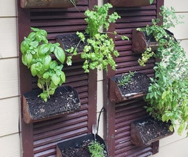 Wall Mount Herb Garden