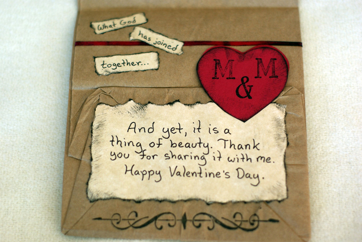 Add the Words to the Inside of the Card