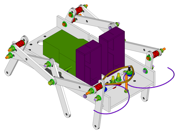 (Source Files For) How to Make an OAWR (Obstacle Avoiding Walking Robot)