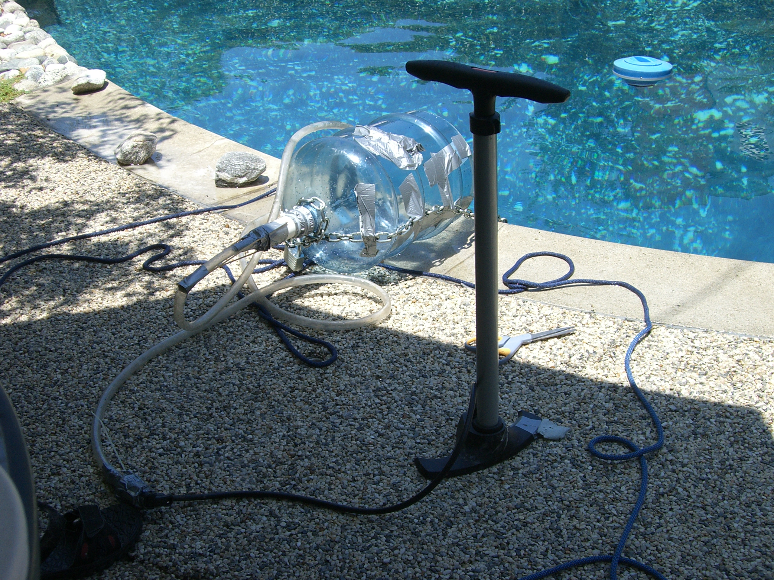 Homemade Diving Apparatus
