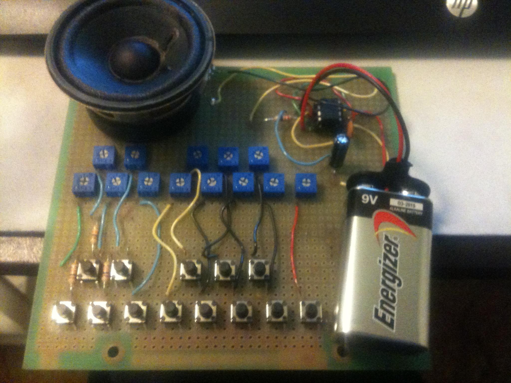 555 Astable Keyboard
