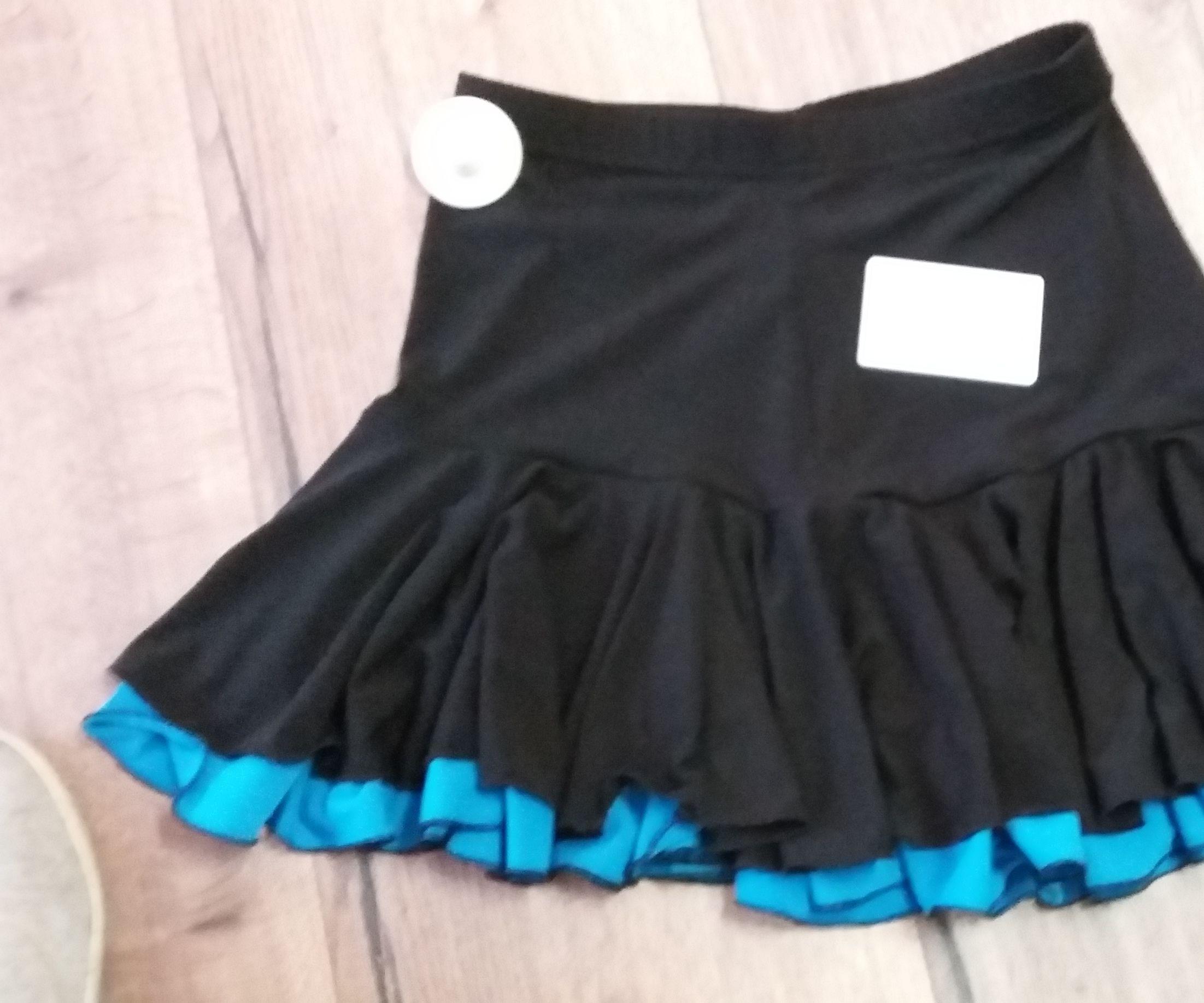 Two-layer Latin dance skirt
