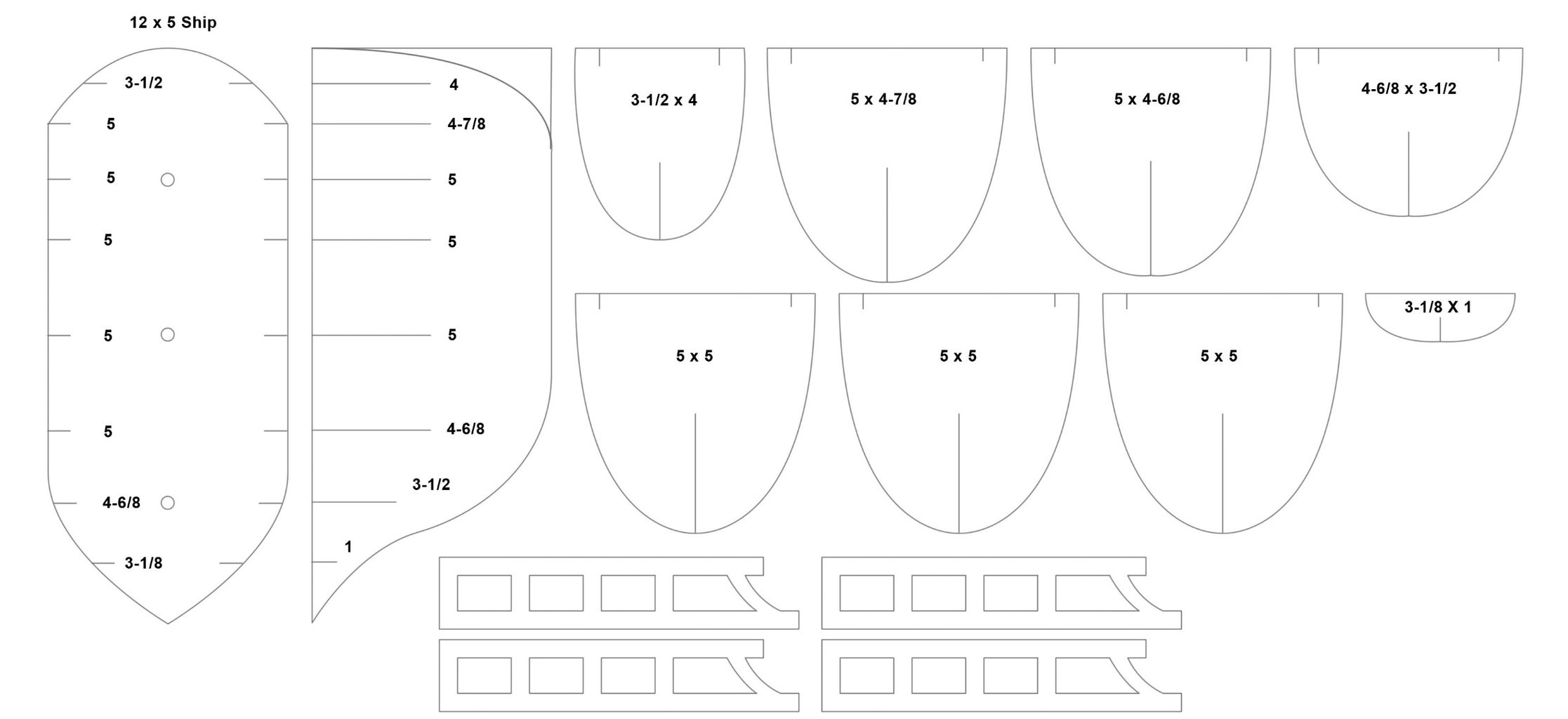1. Print the Life -size Cardboard Ship Plan or Re-size to Create a Smaller or Bigger Ship