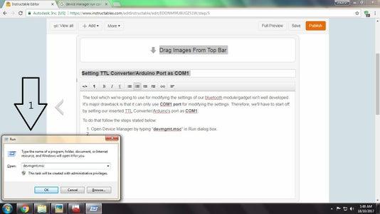 Setting TTL Converter/Arduino Port As COM1