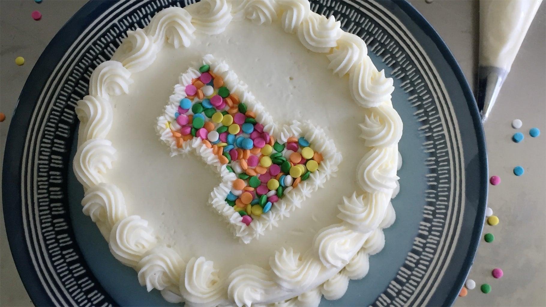 Easy Buttercream Birthday Cake!