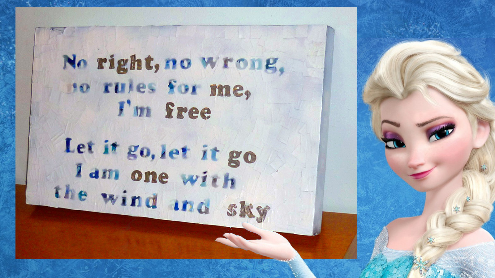 FROZEN inspired DIY - LET IT GO lyrics WALL ART!!