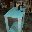 Steel Pipe Lamp/USB Charger End Table