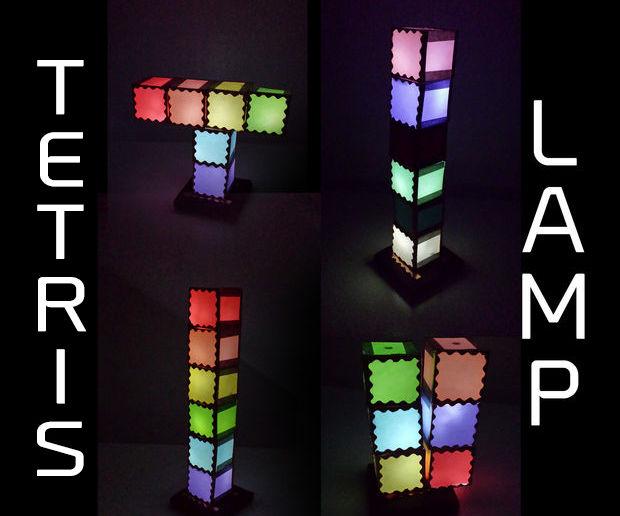 Tetris-Inspired Modular Lamp