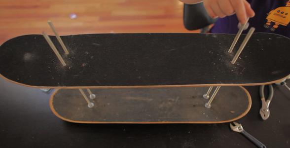 Put on 2nd Skateboard