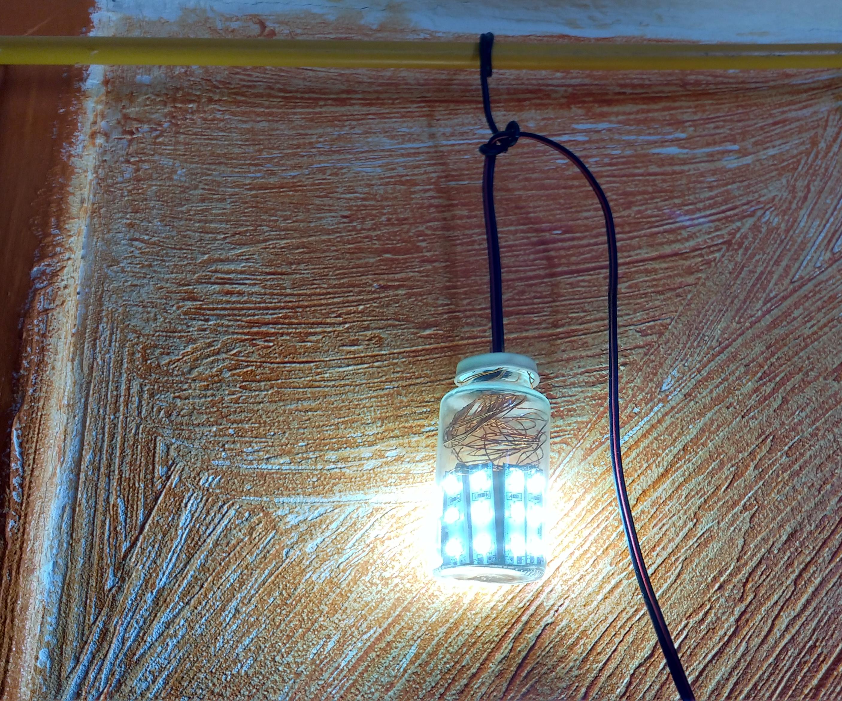 Small Glass Jar Lamp