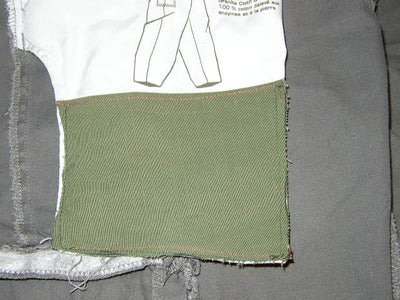 Sew the New Pocket to Over the Existing Hip Pocket.