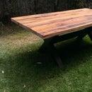Mesa de comedor de madera reciclada