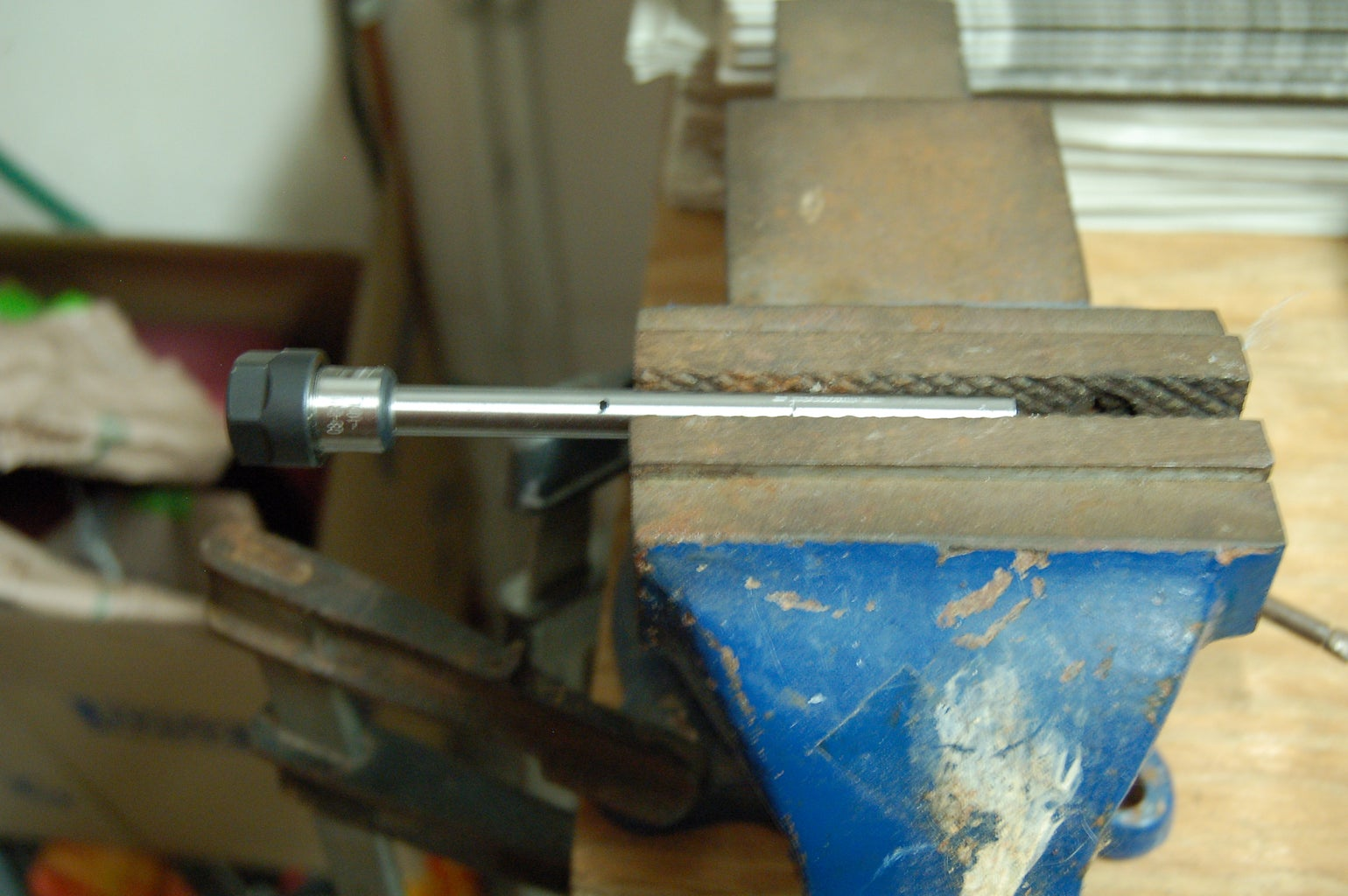 Cutting the ER11 Shaft to Length