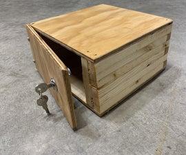 Easy Homemade Wooden Organizing Safe