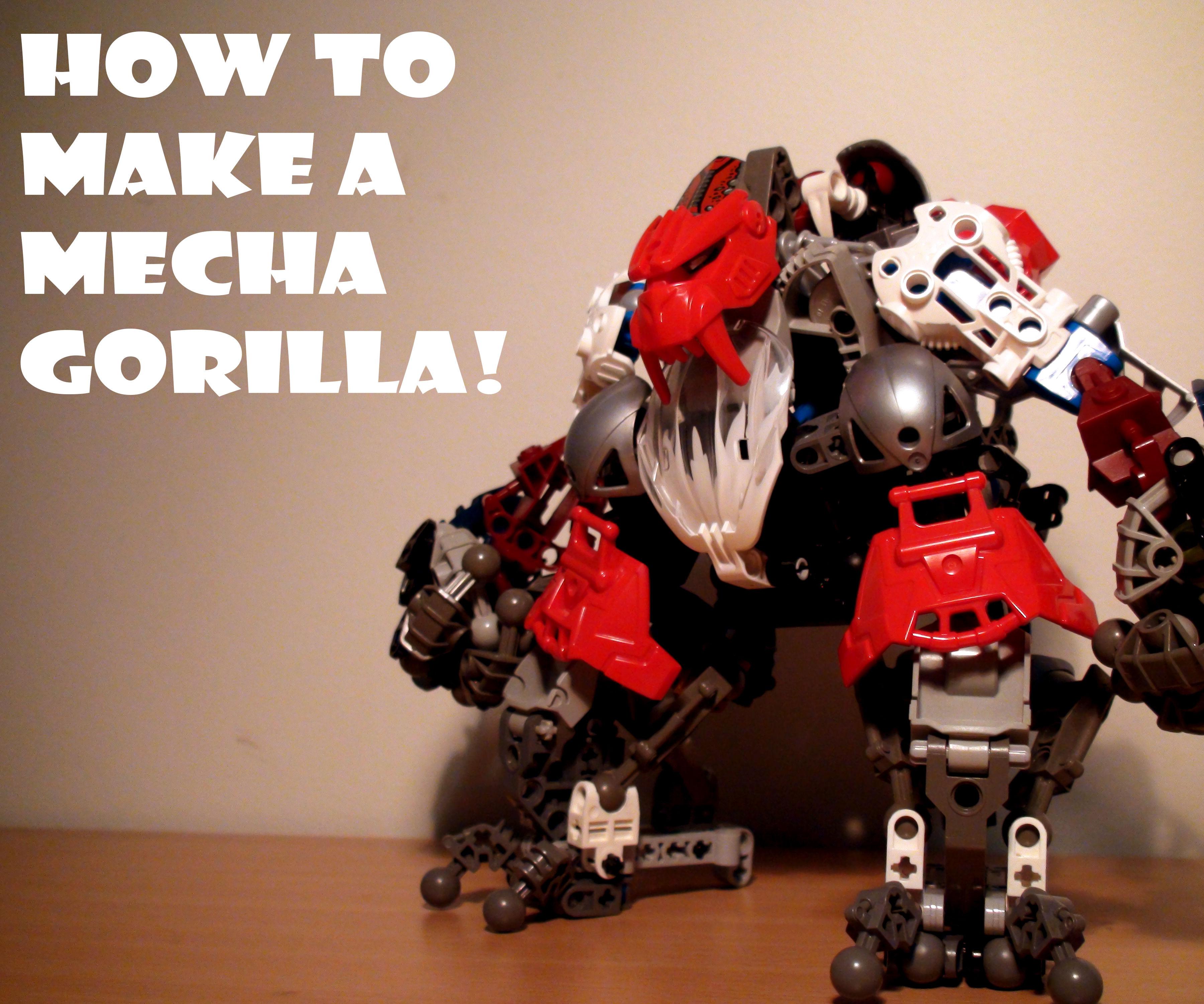 Make a Mecha Gorilla from Bionicles!