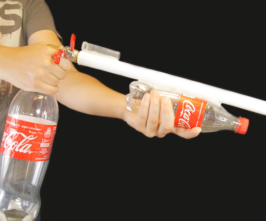 HOW TO MAKE AIR GUN FROM COCA COLA