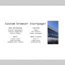 Make yourself a custom, minimalistic startpage!