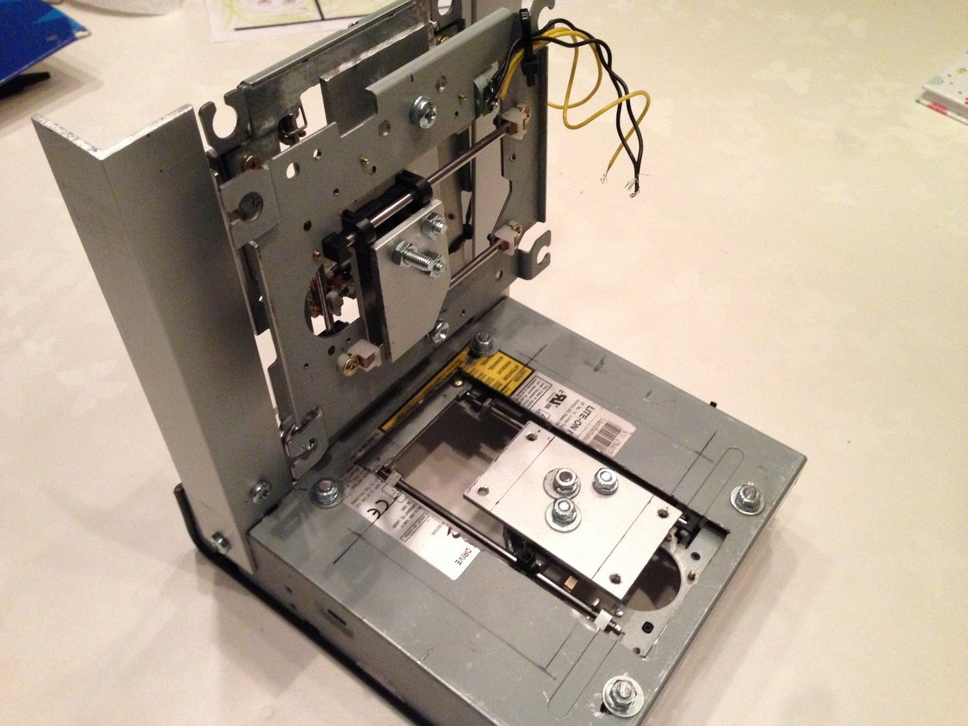 Creating 3D Printer Framework From DVD Chassis and Parts