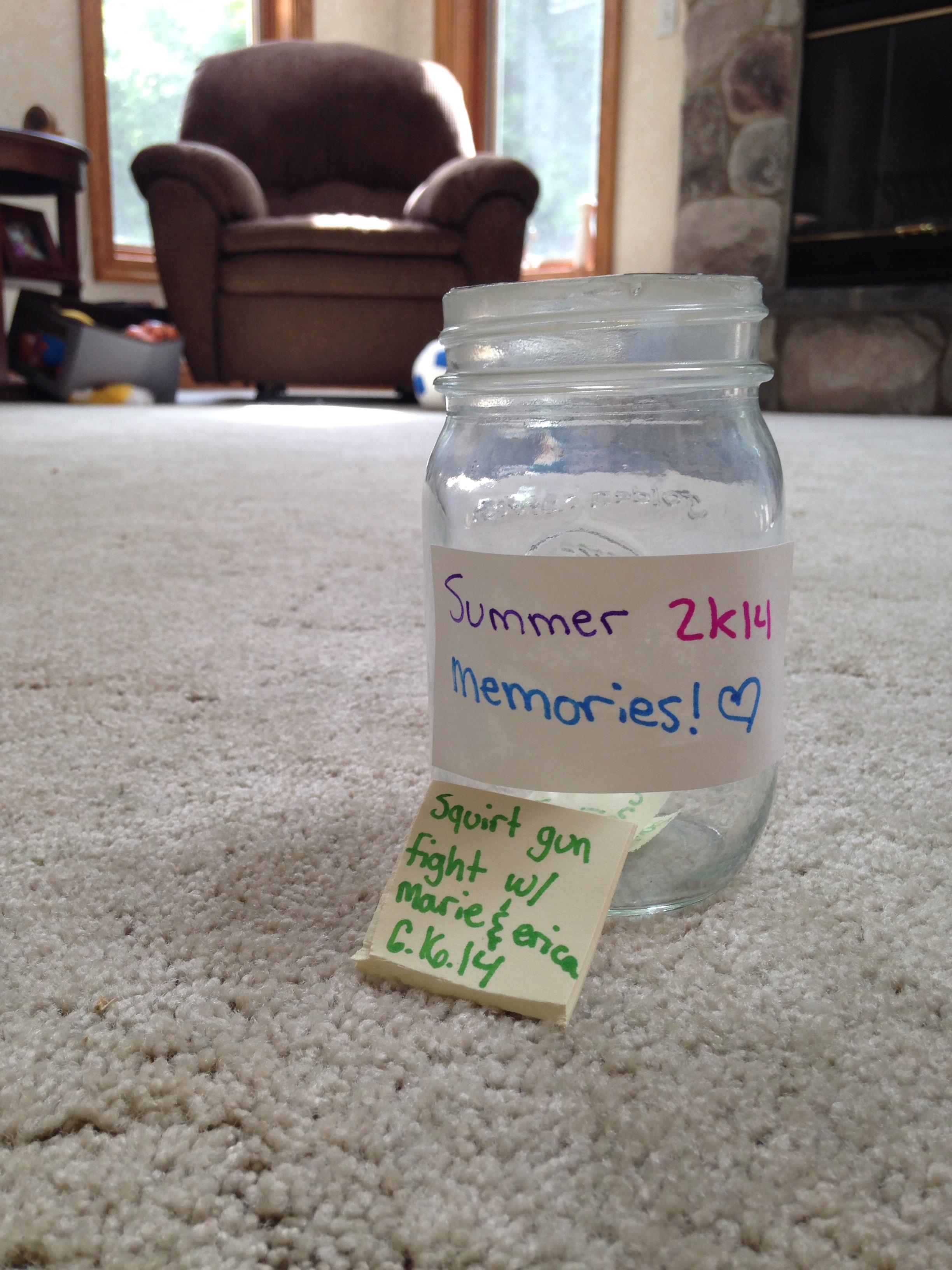 Summer 2k14 Memories Jar