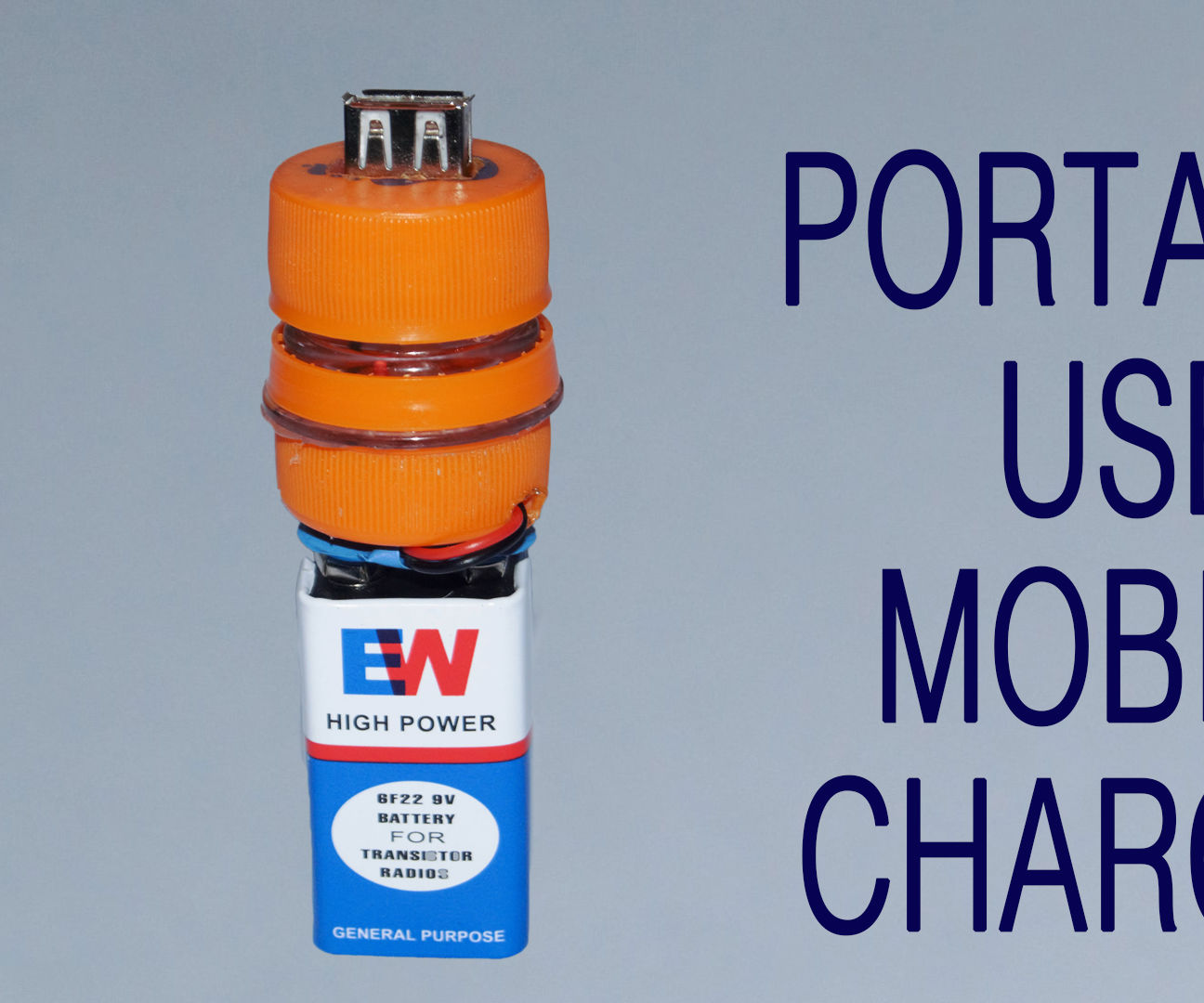 How to Make USB Mobile Charger Using 9V Battery