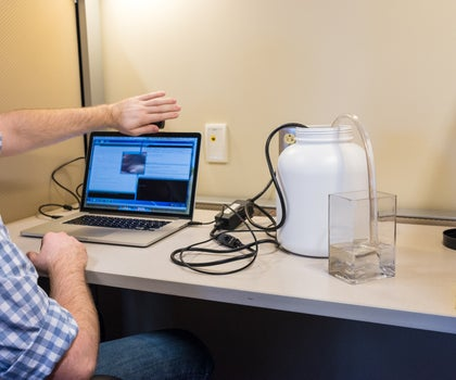 The Pee Timer: Connecting the Arduino, the Intel Perceptual Computing Camera, and a Submersible Water Pump