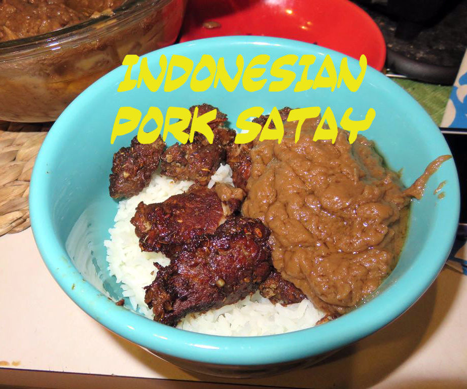 Indonesian Pork Satay with Traditional Peanut Sauce